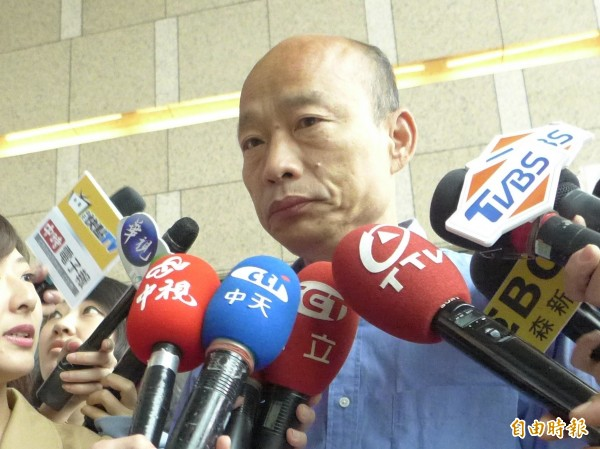 國民黨高雄市長候選人韓國瑜。(記者李雅雯攝)