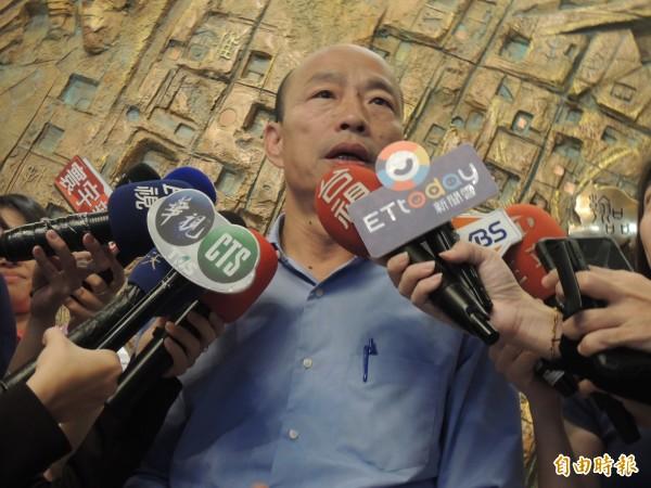 韓國瑜強調絕對沒有對館長已讀不回,感慨過程被扭曲(記者王榮祥攝)