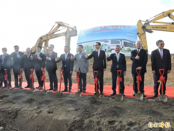 天力台中廠今動土 規劃生產80公尺超長風力機葉片