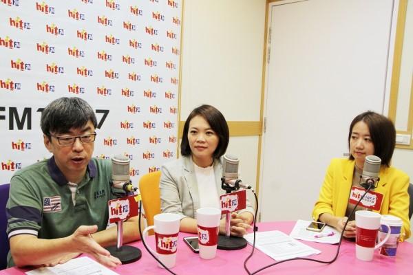 民進黨立委段宜康今天上Hit Fm《蔻蔻早餐》時被問到高雄市長選情。(Hit Fm《蔻蔻早餐》製作單位提供)
