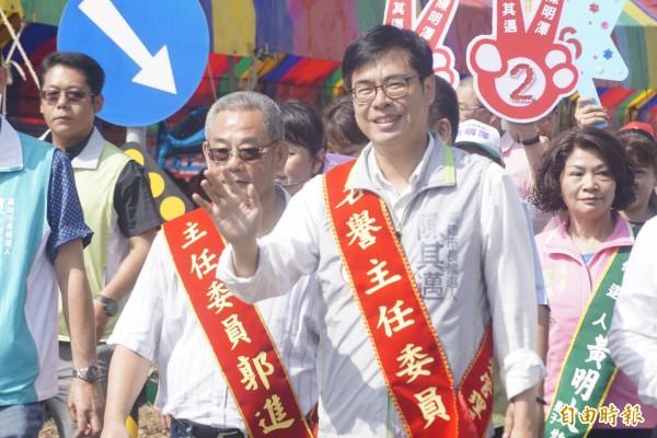 陳其邁認為馬前總統提出新三不,真假難辨。(記者黃佳琳攝)