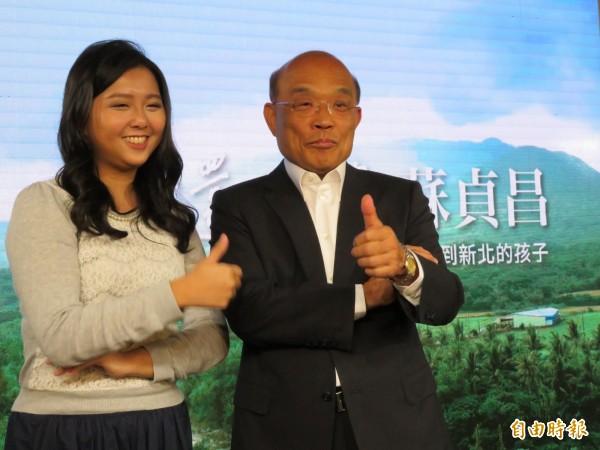 蘇貞昌新影片談北漂青年的發展及心聲,他希望未來的新北讓遠地的父母減少牽掛,讓出外發展的年輕人實現夢想。(記者何玉華攝)