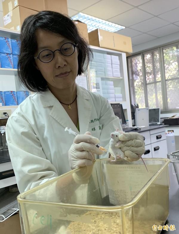 興大微衛所教授趙黛瑜指台美研究團隊研發新一代登革熱疫苗,已完成動物實驗。(記者蔡淑媛攝)