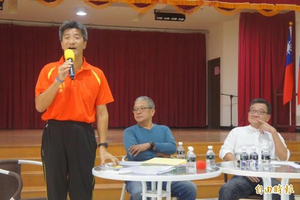 全台首創候選人與非候選人論壇在湖西鄉公所禮堂舉行。(記者劉禹慶攝)