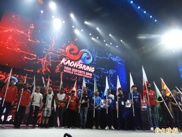 第10屆 IESF 世界電競錦標賽,吸引48國、超過700人參賽。(記者葛祐豪攝)