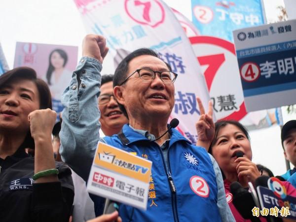 國民黨台北市長候選人丁守中。(資料照,記者簡惠茹攝)