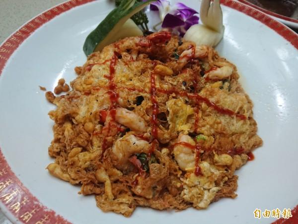酢醋蝦是台式酒家菜之一。(記者洪瑞琴攝)