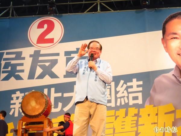 國民黨新北市黨部主委李乾龍。(記者陳心瑜攝)