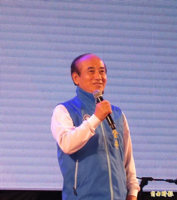 前立法院長王金平為高思博站台,希望高思博能翻轉台南。(記者蔡文居攝)