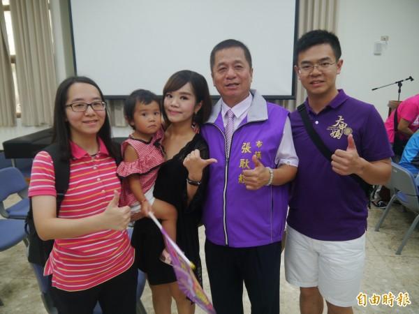 基隆資深議員張耿輝以7173票獲最高票。(記者林欣漢攝)