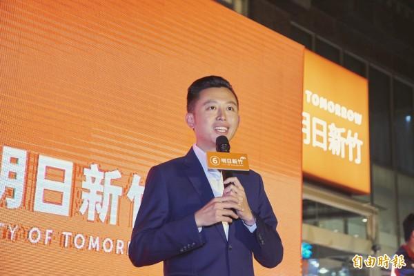 民進黨籍新竹市長林智堅此次高票連任,以近過半得票數贏了市長選舉,卻輸了市議員選舉,朝小野大的局面,將牽動林智堅的市政推動。(照片由林智堅競總提供)