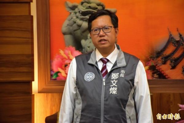 民進黨九合一選舉慘敗,鄭文燦:應為下一場得到民心的成功找方法。(記者李容萍攝)