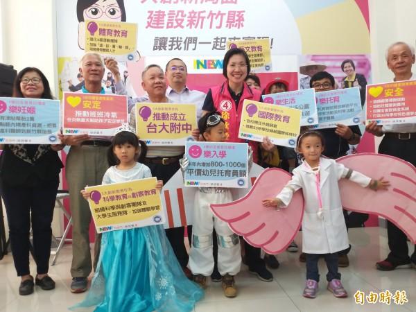 原本多家民調呼聲最高的民國黨新竹縣長候選人徐欣瑩,選前爭議免不了負面效應在網路擴散,以9萬票飲恨。(記者廖雪茹攝)