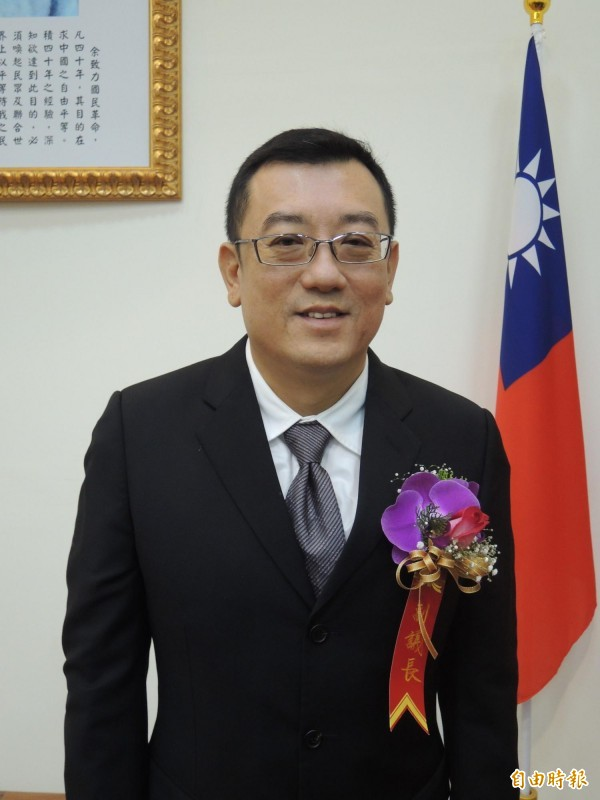 積極拚扶正的新竹市議會無黨籍副議長許修睿是爭取議會龍頭寶座的熱門人選,也在尋求與其他政黨的合作可能性。(記者洪美秀攝)