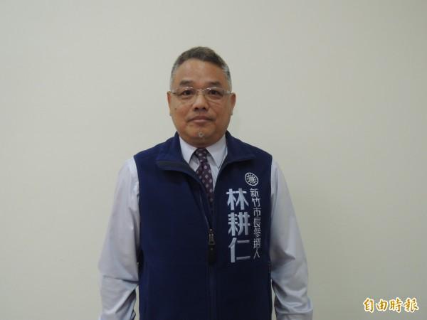 新竹市議會國民黨團書記長林耕仁也有意爭取議會龍頭寶座,但強調國民黨會團結整合,發揮最大反對黨的力量。(記者洪美秀攝)