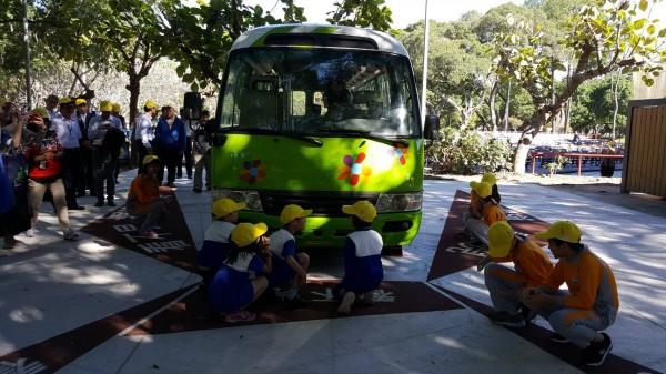 全台首座戶外「交通公園教學區」坐落於台北市青年公園,今天正式啟用。(交通部提供)