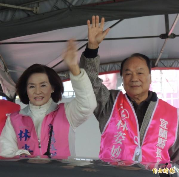前立委林建榮(右)盛傳是林姿妙(左)的副手人選。(資料照,記者江志雄攝)