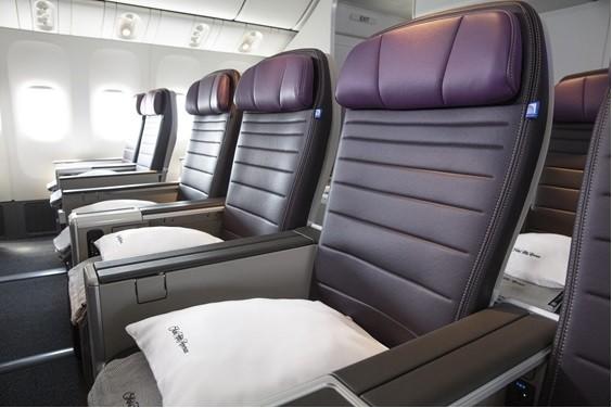 美國聯合航空今天宣布,推出全新客艙「聯合豪華經濟艙(United® Premium Plus)」。(圖由聯航提供)