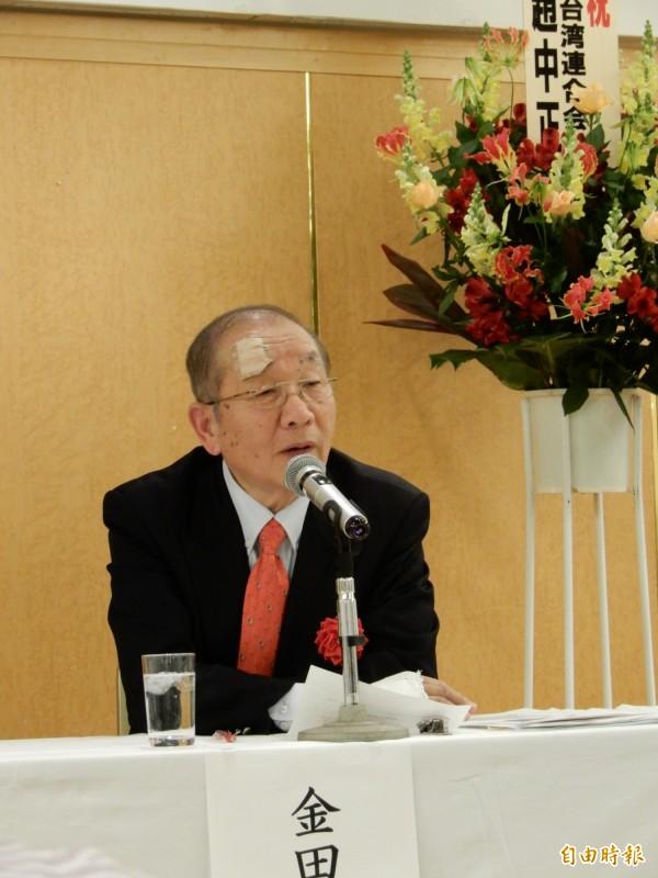 出席「台灣有事與日本的應對」研討會的前海上自衛隊護衛艦隊司令官金田秀昭。(記者林翠儀攝)