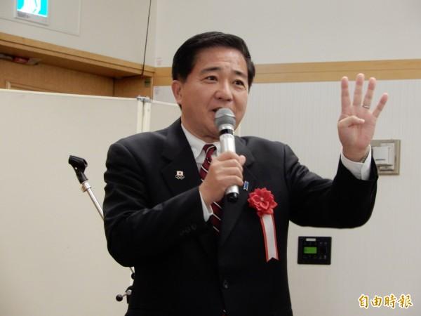 眾議員、前防衛副大臣長島昭久表示,日本制定台灣相關法案的立法時機已逐漸接近了。(記者林翠儀攝)