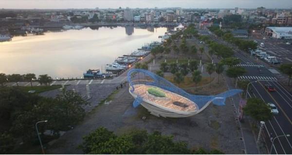 港濱歷史公園設置大型環境藝術「大魚的祝福」作品位置示意圖。(南市觀旅局提供)