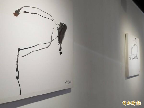 新竹縣竹北市客家文化保存區的一諾藝術展館,9日起將推出冬季大展「被我們誤會的實驗水墨」,希望讓民眾有機會認識90年代在中國大陸興起、突破傳統水墨畫的一股重要藝術潮流。(記者廖雪茹攝)