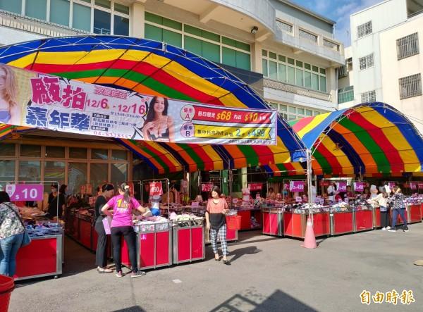 波曼妮亞進行年度廠拍,吸引不少消費者搶購。(記者陳冠備攝)