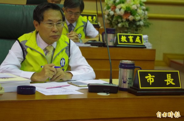 競選連任失利的市長涂醒哲,今上午說選舉無效之訴不是他提的。(記者王善嬿攝)