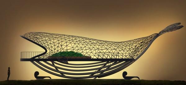 藝術家楊士毅以台灣是大魚創作的「大魚的祝福」。(楊士毅提供)