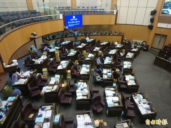 桃園市議會擱置平均地權25.1億元支出。(記者謝武雄攝)