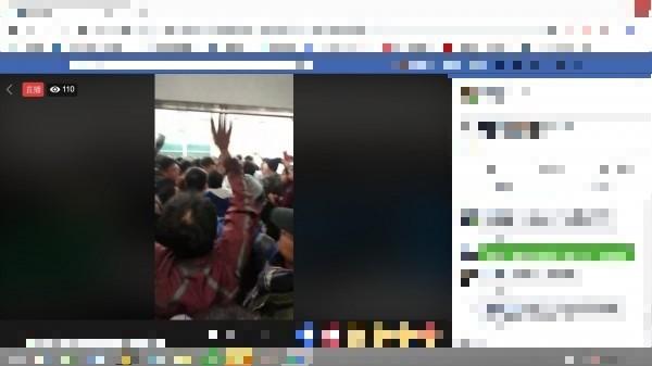 前行政院長江宜樺今晚到台大演講,遭台大學生群起抗議,現場一片混亂。(翻攝自臉書)