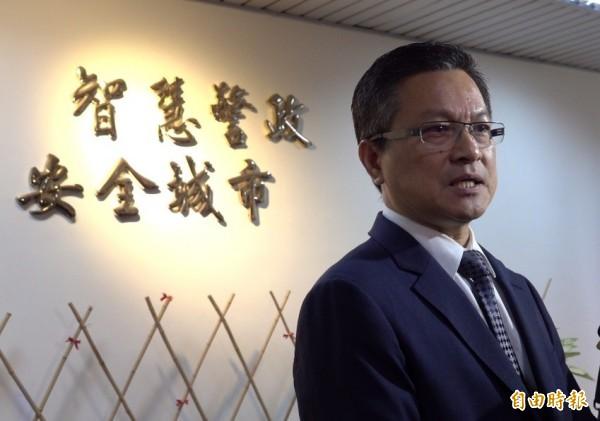 對下一步,魏明谷表示要當政治志工,助人為快樂之本。(記者劉曉欣攝)