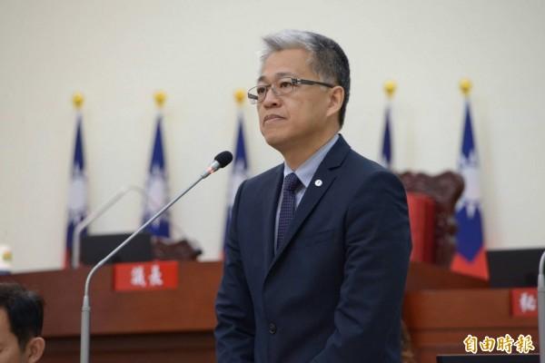 新竹市政府都發處長吳堂安轉任地政處長。(記者蔡彰盛攝)
