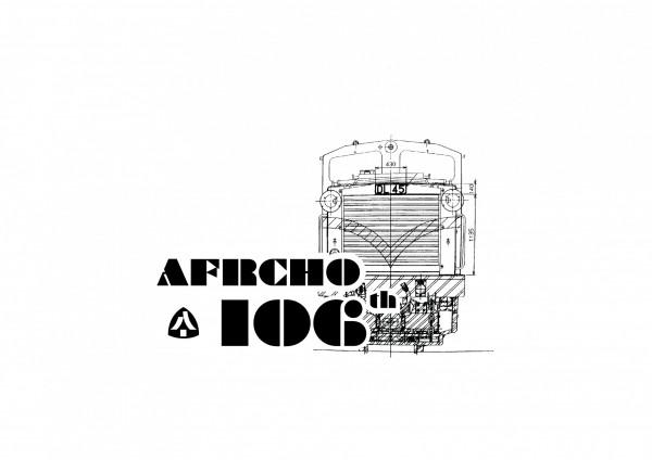 阿里山林業鐵路通車106年紀念戳章。(阿里山林鐵及文資處提供)
