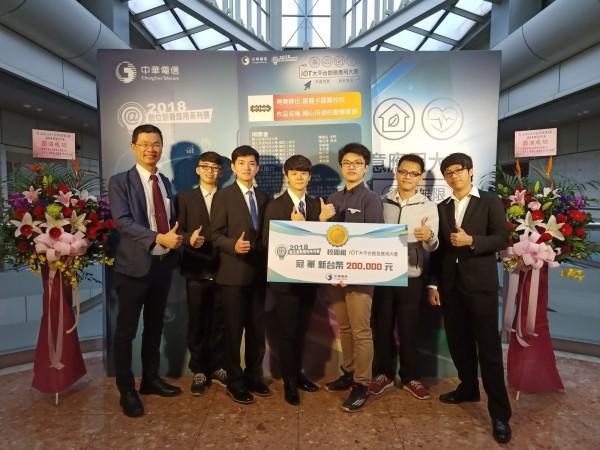 虎科大抱回中華電信物聯網大平台創意應用大賽校園組冠軍。(記者廖淑玲翻攝)