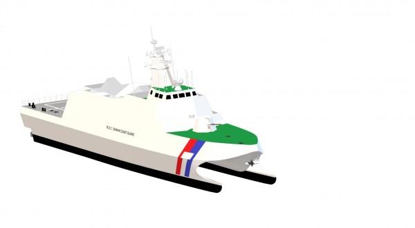 600噸海巡艦示意圖。(海巡署提供)