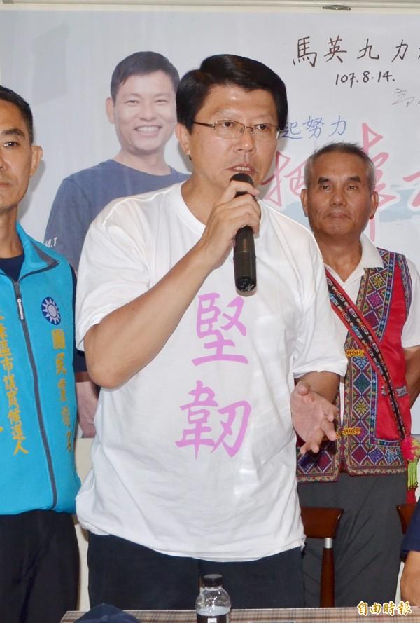 台南第二選區的立委補選,外傳國民黨屬意由謝龍介出馬角逐。(記者吳俊鋒攝)