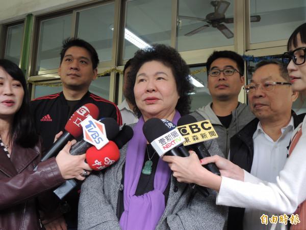 总统府秘书长陈菊表示,情感上非常支持赖清德留任院长,但会尊重他的选择(记者王荣祥摄)