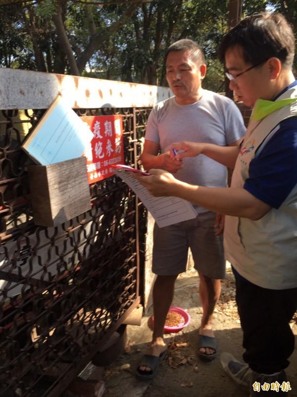強調若台灣有疫情發生,將造成養豬及周邊產業嚴重損失,從業人員大量失業等情況。(記者王涵平攝)