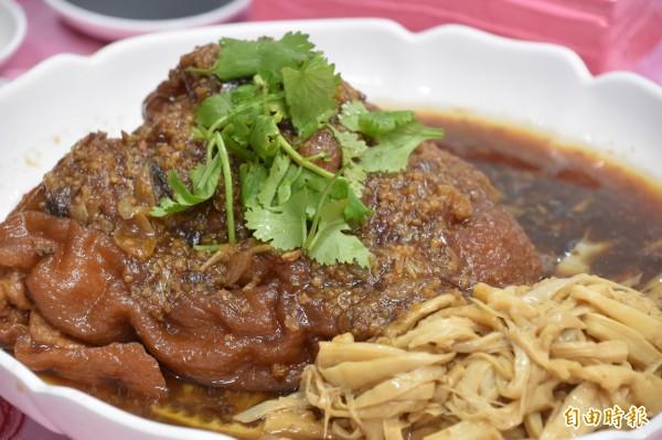 封肉筍干是內門總舖師的手路菜。(記者蘇福男攝)