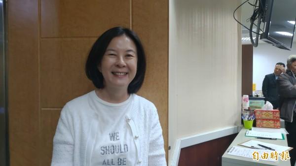 邱莉莉批评郭信良吃民进党豆腐,权谋算尽令人不齿,痛批是「叛党议长」、「政治变色龙」。(资料照,记者蔡文居摄)