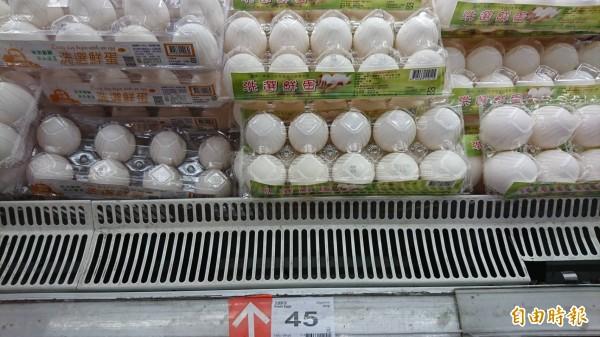雞蛋漲聲響,蛋價已創8年來新高。(記者黃明堂攝)