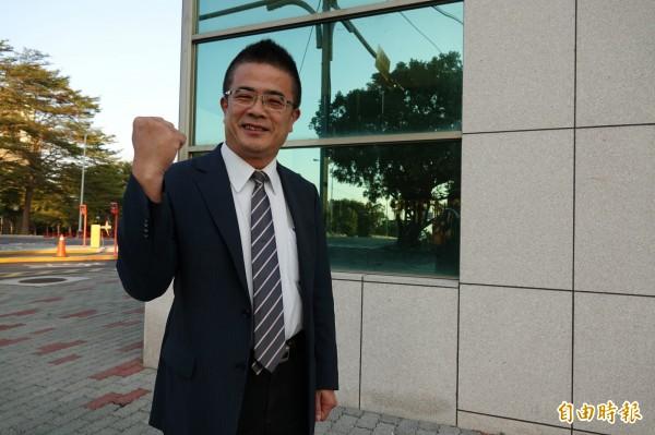 民進黨提名前鹿港鎮長黃振彥參加彰化立委補選。(記者劉曉欣攝)