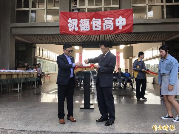 溪湖高中學生舉行考前誓師大會。(記者顏宏駿攝)