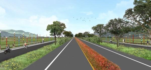 台九線三民家燕路段,兩側將設警鳥器提升家燕飛行高度。(圖:公路總局提供)
