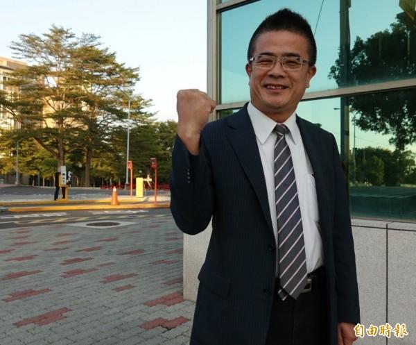 民進黨提名前鹿港鎮長黃振彥參選彰化鹿港區立委補選。(記者劉曉欣攝)