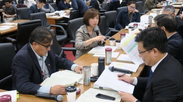 基於選區行政區域完整性,立委何欣純(左二)爭取大里區東湖、西湖調整回第七選區。(立委何欣純提供)