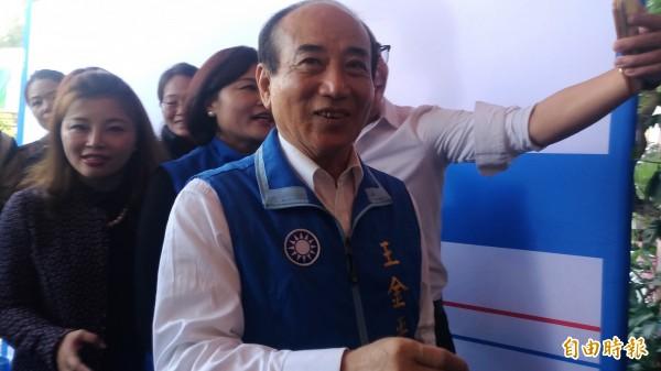 是否選總統?王金平語帶玄機說:等因緣,時間到了就會宣布。(記者廖淑玲攝)