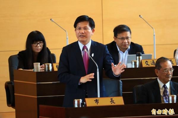 林佳龍接受府院高層邀請,決定共同承擔、出任交通部長。(資料照)