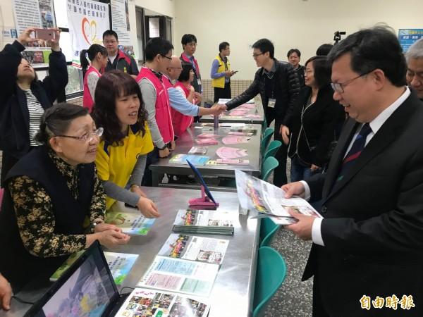 桃園市長鄭文燦出席身障學生適性博覽會。(記者謝武雄攝)